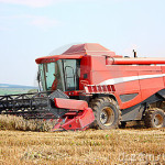 combine harvester image